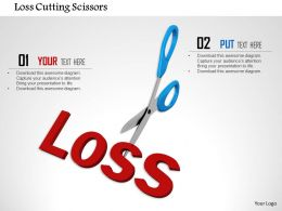 1014 Loss Cutting Scissors Image Graphics For Powerpoint
