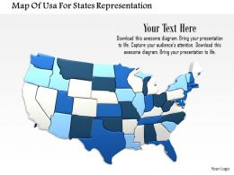 1014 Map Of Usa For States Representation Image Graphics For Powerpoint