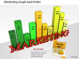 1014 Marketing Graph And Folder Image Graphics For Powerpoint