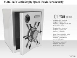 1014 Metal Safe With Empty Space Inside For Security Image Graphics For Powerpoint