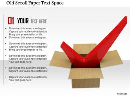 1014 Old Scroll Paper Text Space Image Graphics For Powerpoint