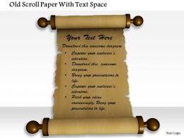 1014 Old Scroll Paper With Text Space Image Graphics For Powerpoint