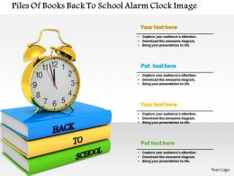 1014 Piles Of Books Back To School Alarm Clock Image Graphics For Powerpoint