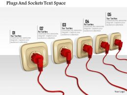1014 Plugs And Sockets Text Space Image Graphics For Powerpoint