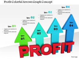1014 Profit Colorful Arrows Graph Concept Image Graphics For Powerpoint