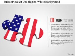 1014 Puzzle Piece Of Usa Flag On White Background Image Graphics For Powerpoint