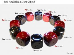 1014 Red And Black Dice Circle Image Graphics For Powerpoint