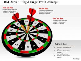1014 Red Darts Hitting A Target Profit Concept Image Graphics For Powerpoint