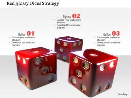 1014 Red Glossy Dices Strategy Image Graphics For Powerpoint