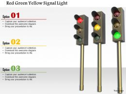 1014 Red Green Yellow Signal Light Image Graphics For Powerpoint