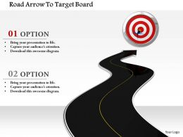 1014 Road Arrow To Target Board Image Graphics For Powerpoint