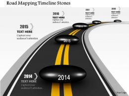 1014 Road Mapping Timeline Stones Image Graphics For Powerpoint