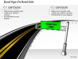 1014 Road Sign On Road Side Image Graphics For Powerpoint