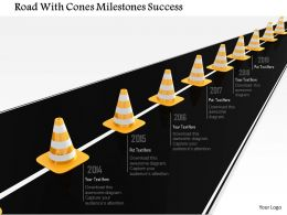 1014 Road With Cones Milestones Success Image Graphics For Powerpoint