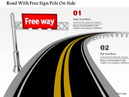1014 Road With Free Sign Pole On Side Image Graphics For Powerpoint