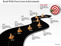 1014 Road With Year Cones Achievements Image Graphics For Powerpoint