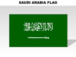 1014 Saudi Arabia Country Powerpoint Flags