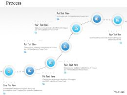 1014 Seven Steps Process Spheres Line Diagram Powerpoint Template