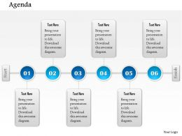 1014 Six Stages Agenda Timeline Powerpoint Template