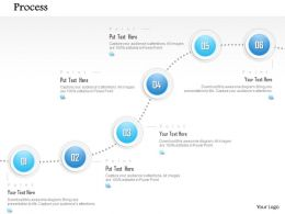 1014 Six Steps Process Spheres Line Diagram Powerpoint Template