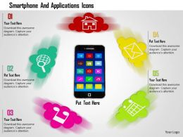 1014 Smartphone And Applications Icons Image Graphics For Powerpoint