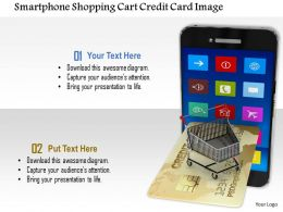 1014 Smartphone Shopping Cart Credit Card Image Graphics For Powerpoint