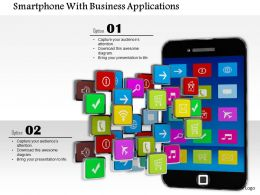 1014 Smartphone With Business Applications  Image Graphics For Powerpoint