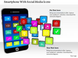 1014 Smartphone With Social Media Icons  Image Graphics For Powerpoint