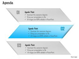 1014 Three Agenda Points Powerpoint Template
