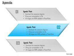 1014 Three Agenda Points Powerpoint Template