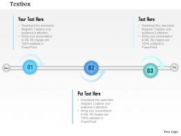 1014 Three Points Timeline Diagram Powerpoint Template