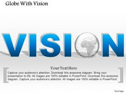 1014 Vision Text With Globe Text Graphic Powerpoint Template
