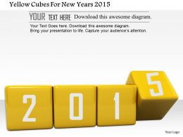 1014 Yellow Cubes For New Years 2015 Image Graphics For Powerpoint
