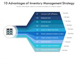 10 Advantages Of Inventory Management Strategy
