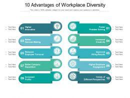 10 Advantages Of Workplace Diversity