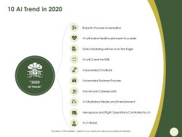 10 AI Trend In 2020 Controlled Ppt Powerpoint Presentation Show Inspiration