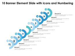 10 Banner Element Slide With Icons And Numbering