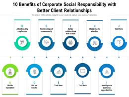 10 Benefits Of Corporate Social Responsibility With Better Client Relationships