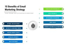 10 Benefits Of Email Marketing Strategy