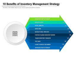 10 Benefits Of Inventory Management Strategy