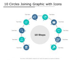 10 Circles Joining Graphic With Icons