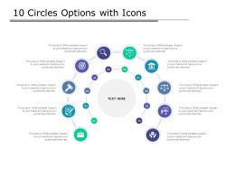 10 Circles Options With Icons