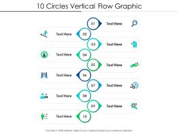 10 Circles Vertical Flow Graphic