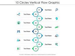 10 Circles Vertical Flow Graphic