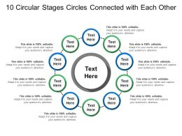 10 Circular Stages Circles Connected With Each Other