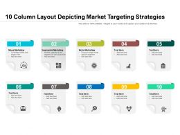 10 Column Layout Depicting Market Targeting Strategies