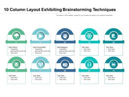 10 Column Layout Exhibiting Brainstorming Techniques