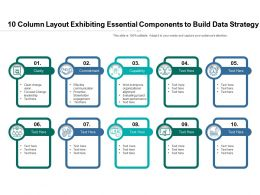 10 Column Layout Exhibiting Essential Components To Build Data Strategy