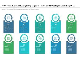 10 Column Layout Highlighting Major Steps To Build Strategic Marketing Plan
