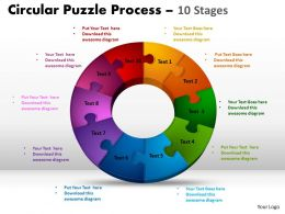 10 Components Circular diagram Puzzle Process 6